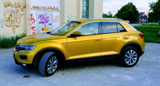 VW T-roc med solfilm