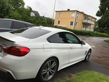 BMW 4-serie coupé med solfilm