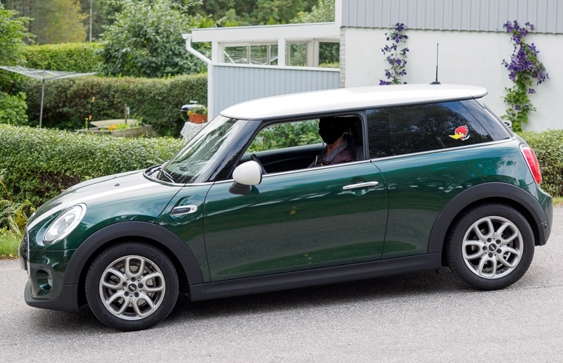 Mini Cooper med solfilm