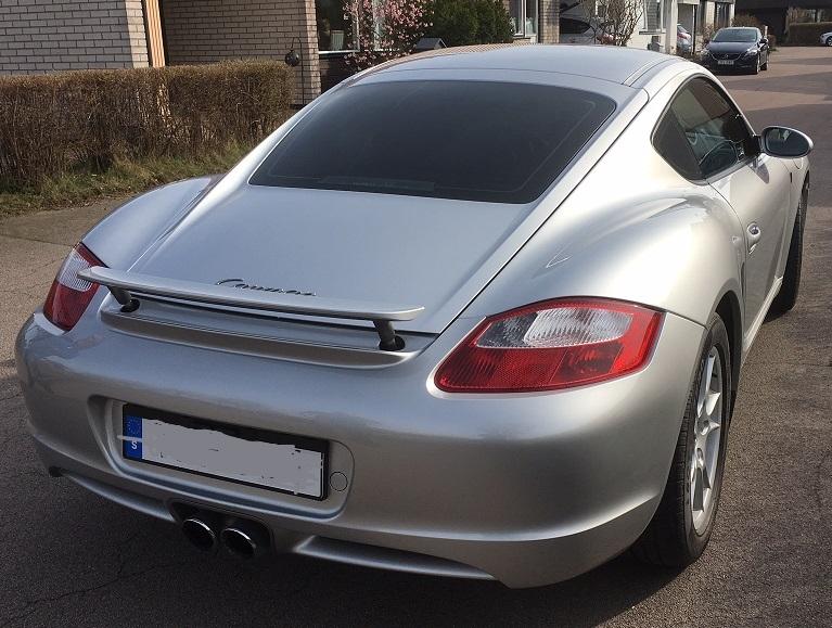 Porsche Cayman med solfilm