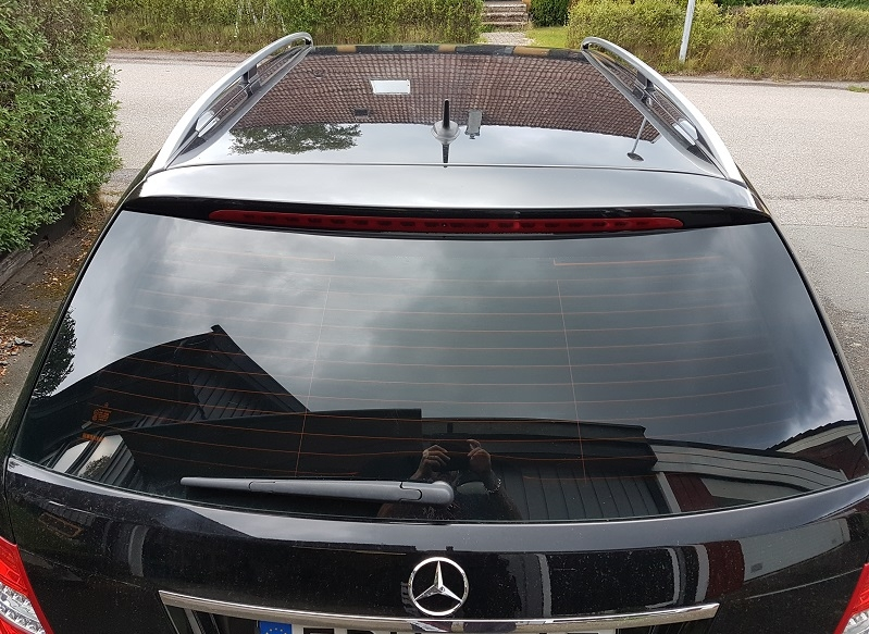 Mercedes C klass med tonade rutor