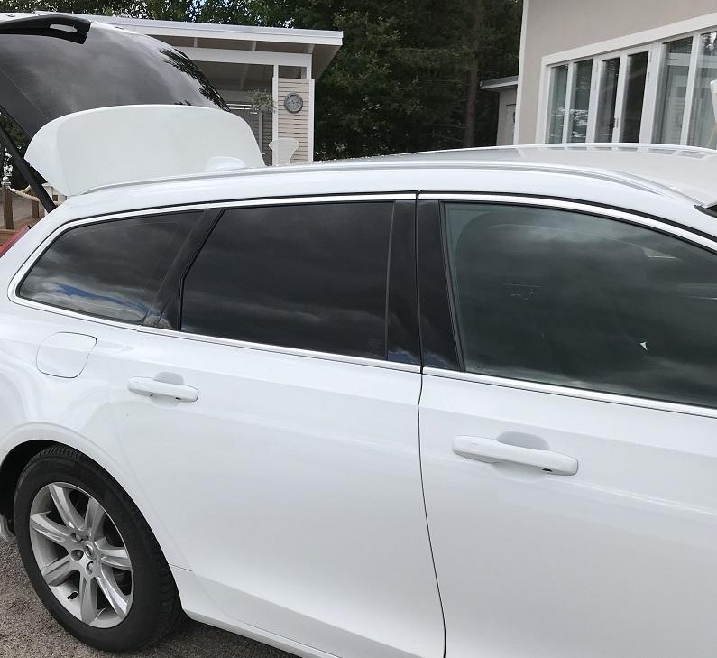 Volvo V90 med solfilm