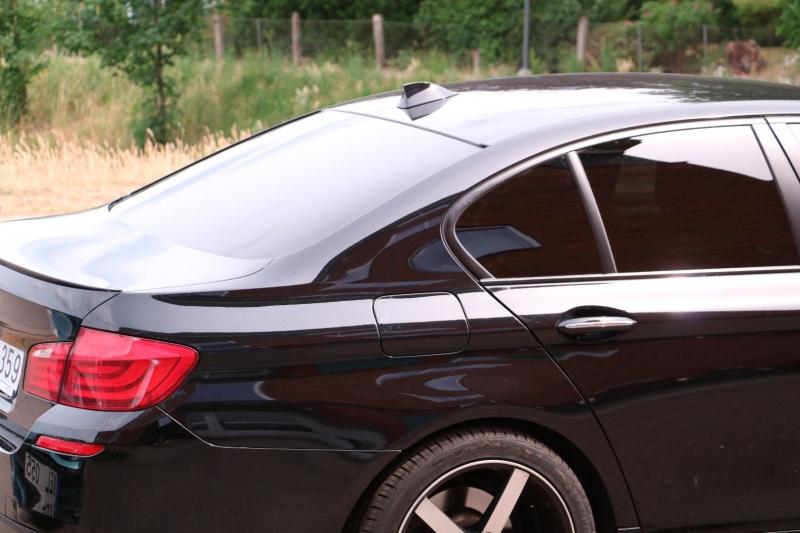 BMW 5-serie med solfilm
