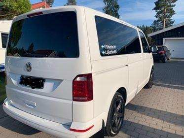 VW T5 Transporter med solfilm