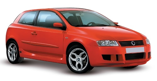 Solfilm till Fiat Stilo 3-dörrar. Färdigskuren solfilm till alla Fiat bilar från EVOFILM®.