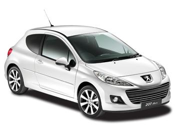 Solfilm till Peugeot 207 3-dörrar. Färdigskuren solfilm till alla Peugeot bilar från EVOFILM®.