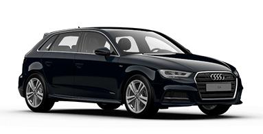 Solfilm till Audi A3 Sportback. Färdigskuren solfilm till alla Audi bilar från EVOFILM®.