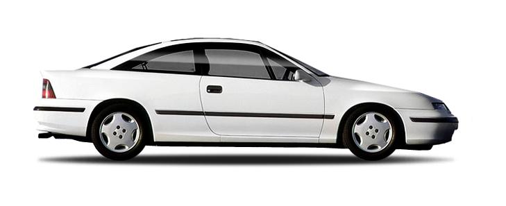 Solfilm till Opel Calibra. Färdigskuren solfilm till alla Opel bilar.