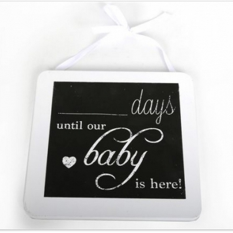 Dagar till vår bebis kommer - Dekoration