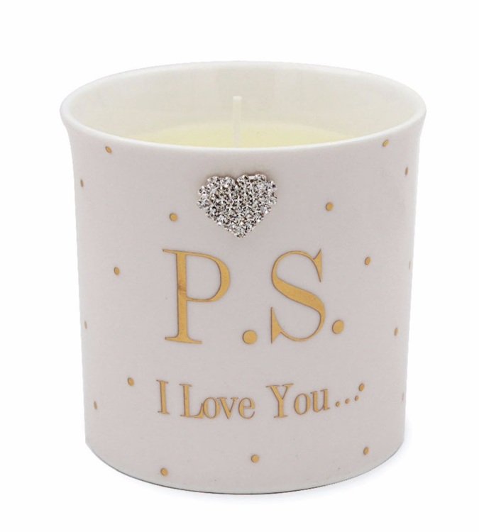 P.S I love You candle