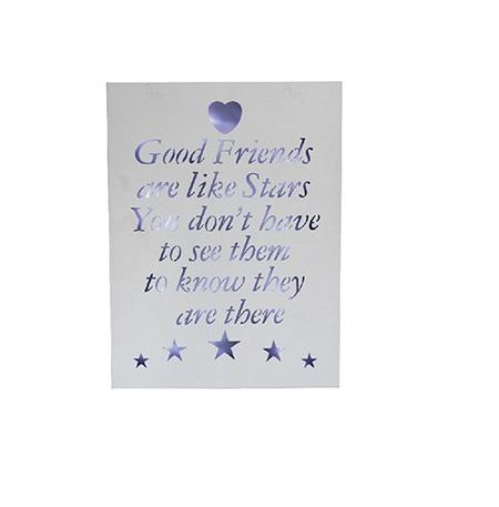 Good friends are like stars -LED ljustavla