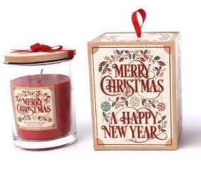 Vintage Christmas Candle