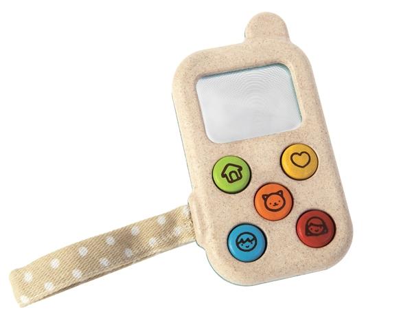 Ekologisk leksakstelefon i trä, My First Phone - PlanToys
