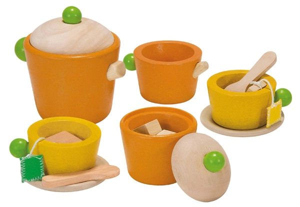 Ekologisk teservis i trä, Tea Set - PlanToys
