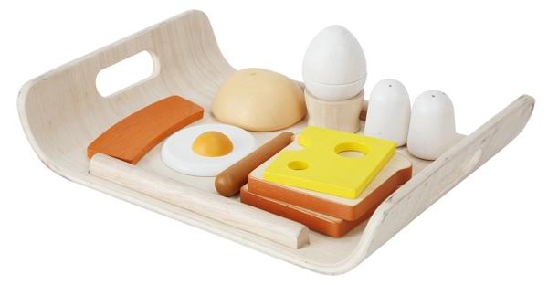 Frukostbricka med lekmat i trä, Breakfast Menu - PlanToys