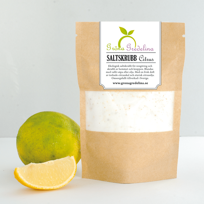 Saltskrubb med ekologisk citrus