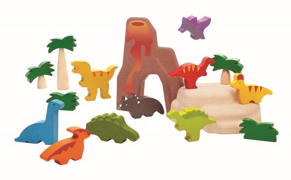 Ekologiskt landskap med Dinosaurier - PlanToys
