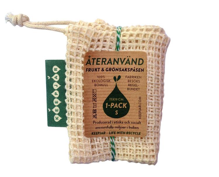 Nätpåse i ekologisk GOTS bomull, 1-pack Small