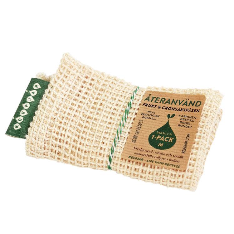Nätpåse i ekologisk GOTS bomull, 1-pack Medium