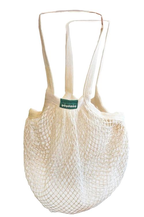 Nätkasse i ekologisk bomull, långa handtag - Keepjar