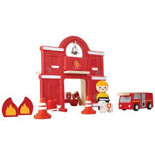 Brandstation, Fire Station - Plantoys, PlanWorld