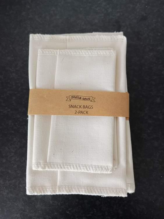 Snack bags, ekologisk bomullspåse, 2-pack