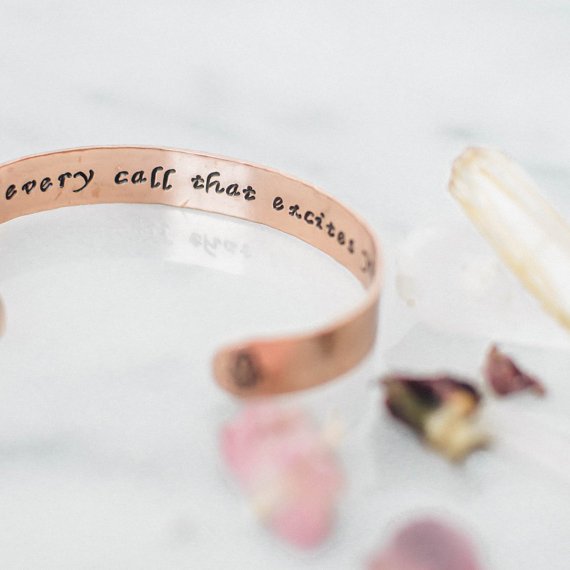 Armband i koppar från Zenned Out - Answer every call that excites your spirit
