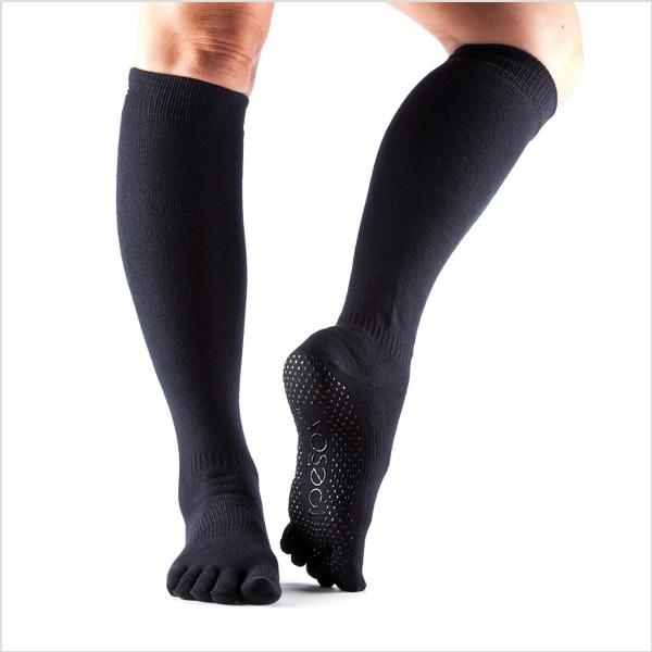 Yogastrumpor Toesox Fulltoe Scrunch Knee - Black
