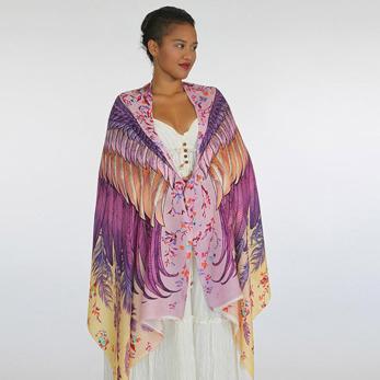 Sjal med vingar från Shovava - Blush