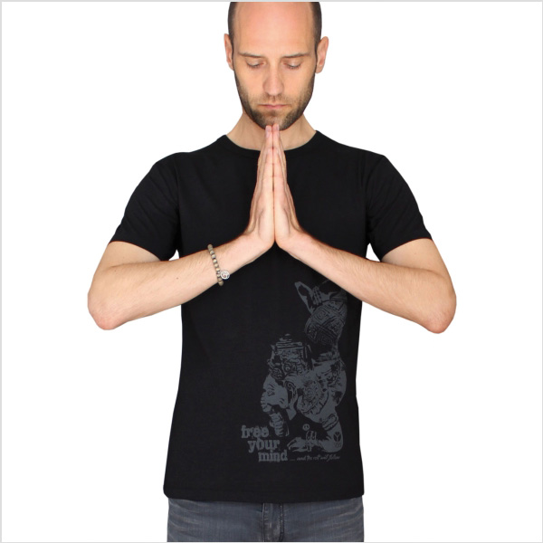 Yogatröja Free Your Mind Men från Natural Born Yogi - Black