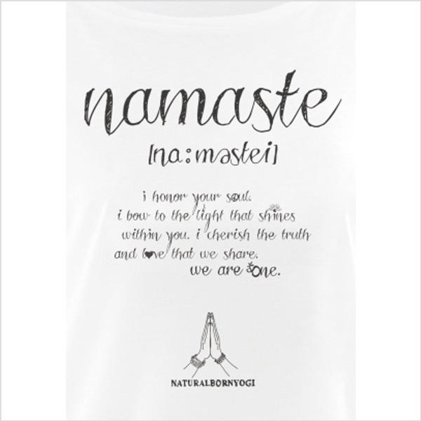 Yogatopp NAMASTE LOVE från Natural Born Yogi