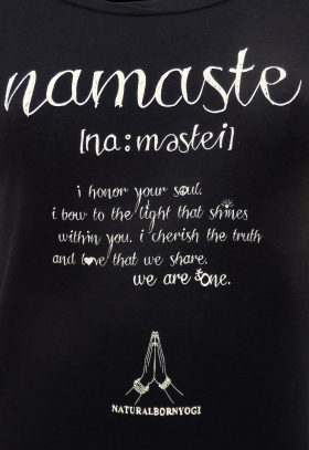 Yogatopp NAMASTE LOVE BLACK från Natural Born Yogi