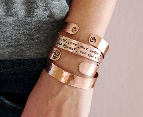 Armband i koppar från Zenned Out - You´re stronger than you think....