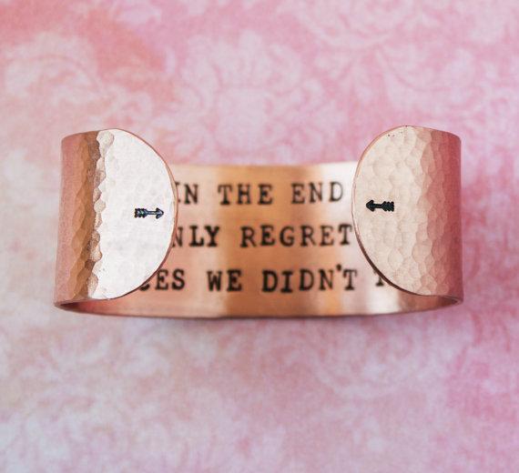 Armband i koppar från Zenned out - In the end we only regret...