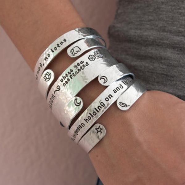 Armband från Zenned Out - Breathe in peace, Breathe out love