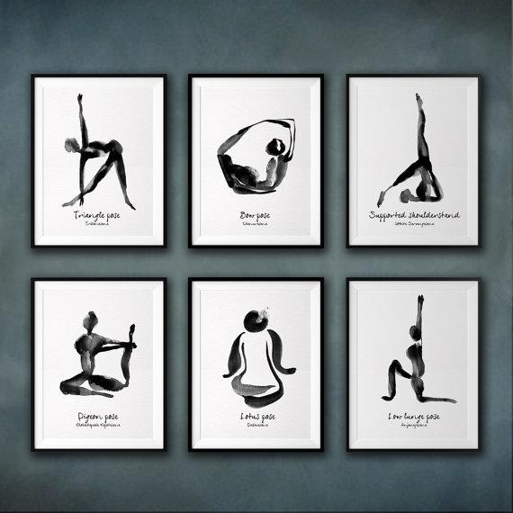 Yoga Print - Triangle Pose