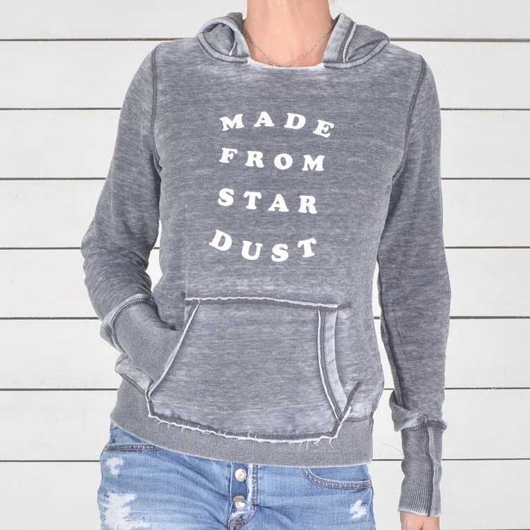 Hoodie Made from Star Dust från SuperLove Tees