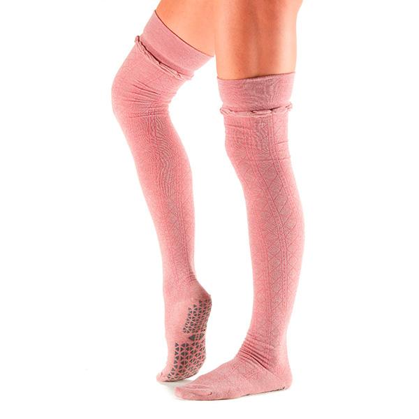 Yogastrumpor Tavi Noir Johnny Over-Knee Grip Socks - Tavi Blush