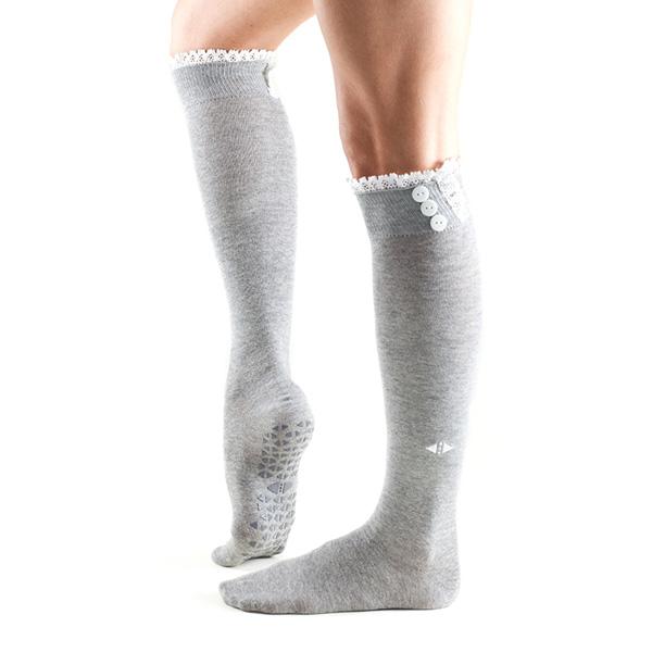 Yogastrumpor Tavi Noir Selah Knee High Grip Socks - Stone