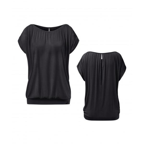 Yogatopp Flow Crinkled från Curare Yogawear- Black