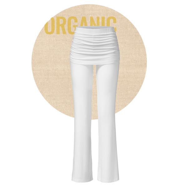 Yogabyxor long pants skirt från Curare Yogawear - White