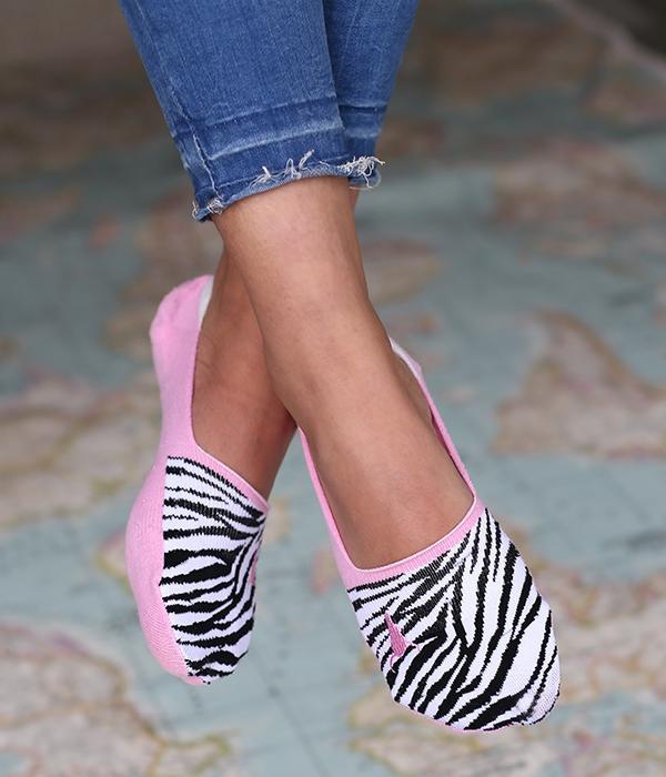 Strumpor/sneackersocks Zebra