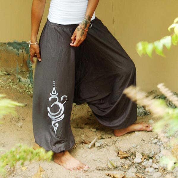 Bohemian Harem Mandala Ohm  - grå