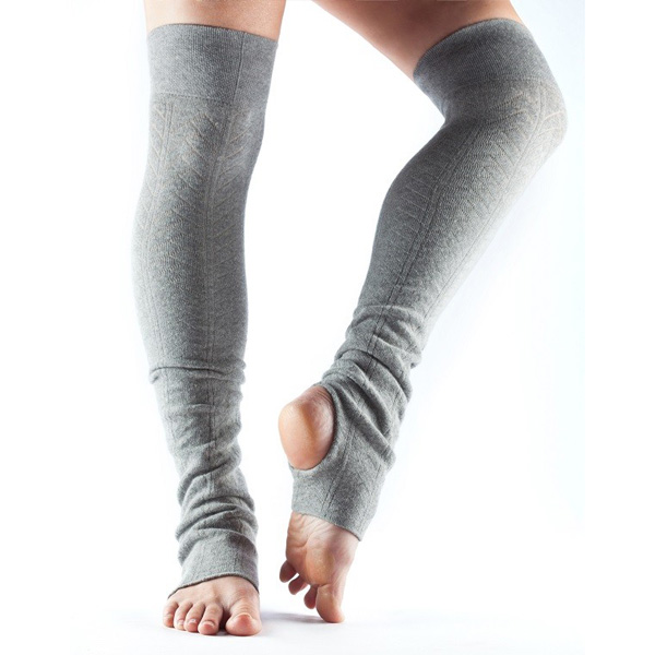 Benvärmare Toesox Open Heel - Heather grey