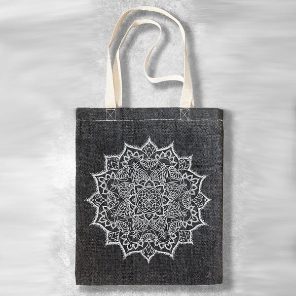 Bohemian Harem Väska Tote bag Mandala - grå