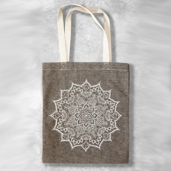 Bohemian Harem Väska Tote bag Mandala - sand