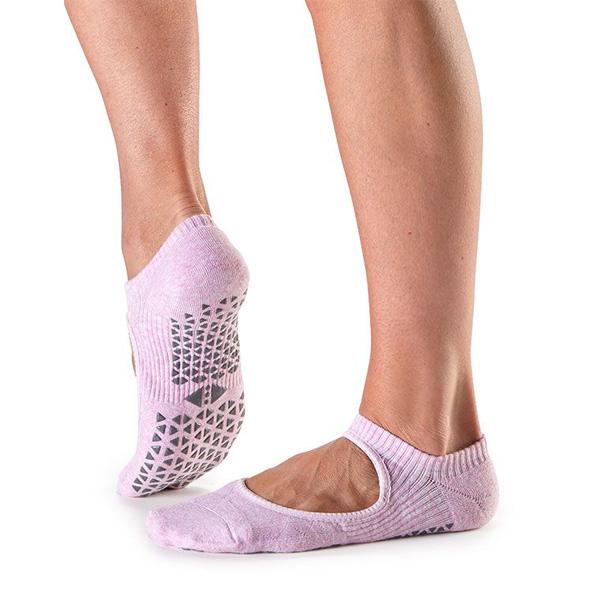 Yogastrumpor Tavi Noir Chey Grip Socks - Cotton Candy
