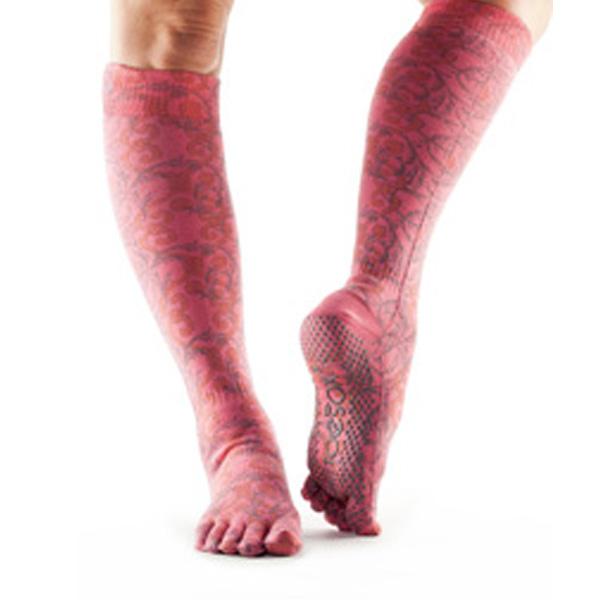 Yogastrumpor Toesox Fulltoe Scrunch knee - Viva