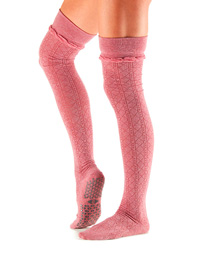 Yogastrumpor Tavi Noir Johnny Over-Knee Grip Socks -  Tavi Rose