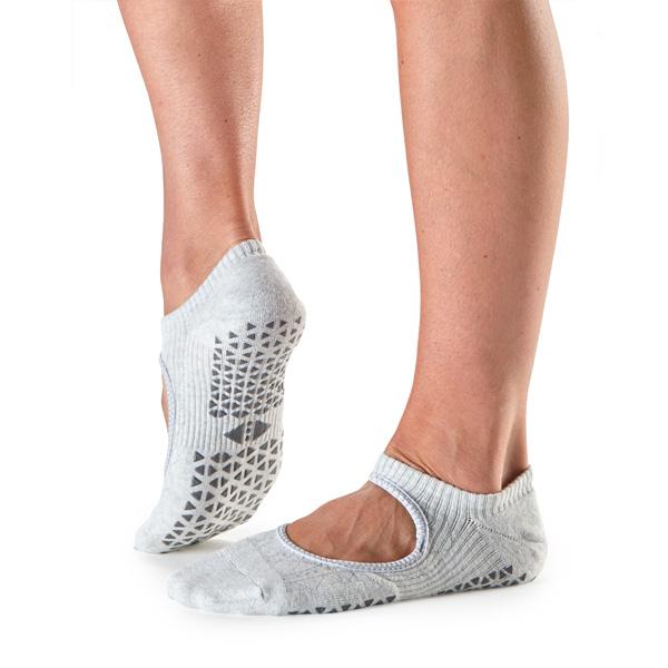 Yogastrumpor Tavi Noir Chey Grip Socks - Smoke